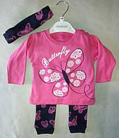 Детский костюм для новорожденных на девочек 6-18 мес Турция оптом