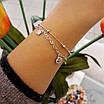 Срібний браслет з висульками діамант і шанель, фото 4