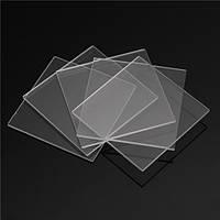 5pcs двухсторонняя шлифованный плавленого кварца из кварцевого стекла листы пластины 30 мм х 30 мм х 1 мм