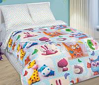 Детское постельное белье в кроватку Плюшевый мир, поплин 100%хлопок