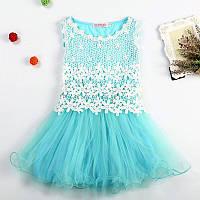 Платье с кружевом для девочки  размер 120.