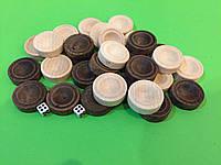 Набір фішок для нард 28 х 10 мм з кубиками, фото 1