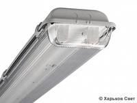 LED светильник 36W (LED лампа 18Вт Т8 х 2шт) IP65 1260 мм, фото 1