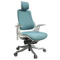 Кресло офисное для руководителя WAU teal Blue fabric