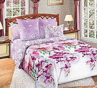 Двуспальное постельное белье с простыней на резинке 160/200/34, Мальдивы, перкаль 100%хлопок