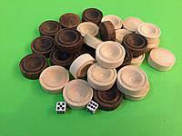 Набор фишек для нард 26 х 10 мм с кубиками, фото 1