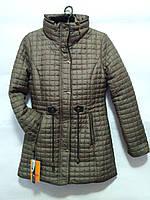 Куртка подростковая для девочки утеплитель - холлофайбер, евро-зима, размер 152-166
