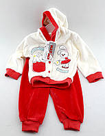 Детский костюмчик велюровый для новорожденных 6 месяцев Турция