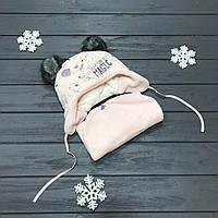 Детская зимняя шапка (набор) для девочек ЧИКО  размер 46-48