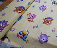 Детское постельное белье в кроватку Смешарики, бязь