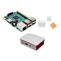 3 в 1 Raspberry Pi 3 модели B + официальный случай + теплоотводы множества