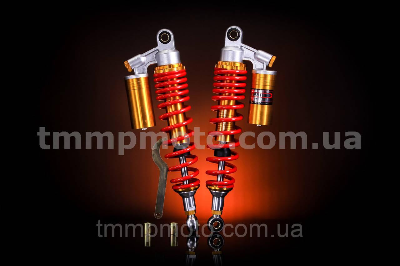 Амортизаторы Дельта,  Альфа  L=340mm с подкачкой красные