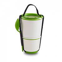 Ланчбокс Lunch Pot Black+Blum (белый-зеленый), фото 1