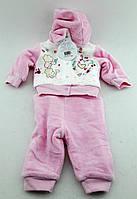 Костюм для новорожденных на меху 3-6, 6-9, 9-12  месяцев Турция