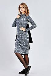 Женское трикотажное платье с люрексом
