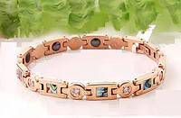 Магнитный титановый женский браслет Гелиотис розовое золото Вековой Восток