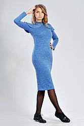 Платье женское из трикотажа меланж с люрексом