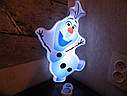 "Ночник детский Олаф (м/ф ""Frozen""), фото 2"