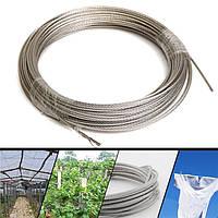 304 из нержавеющей стальной трос 3 мм Диаметр проволоки одежды кабельной линии проволоки длина троса 30 м