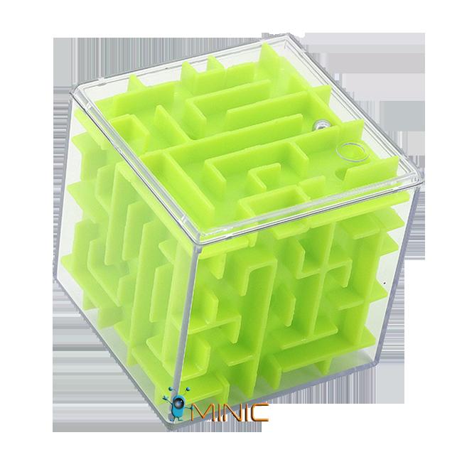 3D головоломка куб-лабиринт с шариком