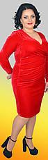 Бархатное модное женское платье, большие размеры, фото 2