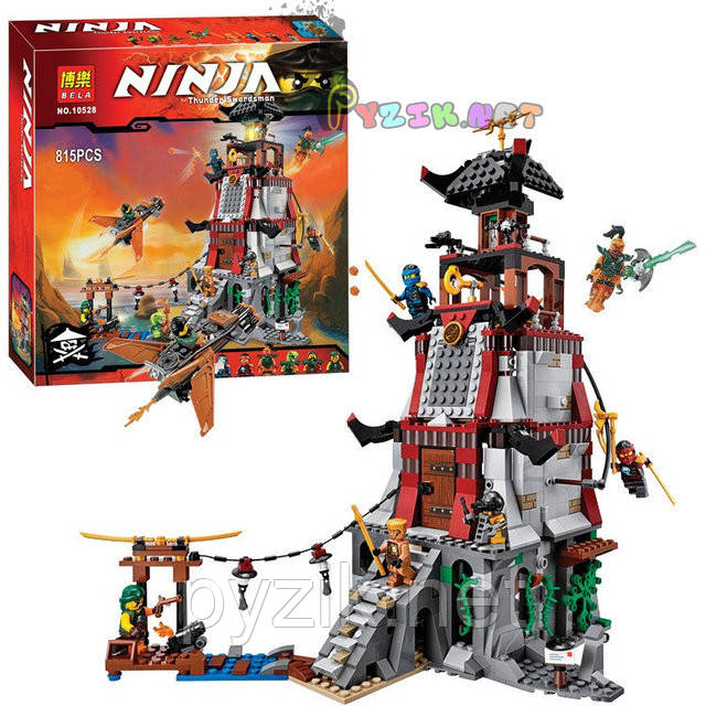 "Конструктор BELA Ninja 10528 ""Осада маяка"" - аналог Lego Ninjago 70594, 815 дет"