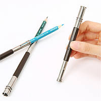 Регулируемый карандаш расширители инструменты двойной 2 головы держатель школы искусства эскиз письма