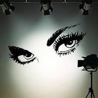 50 x 95cm большие черные глаза сексуальные стикеры стены красивые глаза этикета стены домашнего декора стен