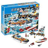 "Конструктор Lepin 02081 (аналог Lego City 60167) ""Штаб береговой охраны"", 855 дет"