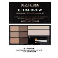 Makeup Revolution Набор для моделирования бровей Ultra Brow 19 g. № Fair to Medium