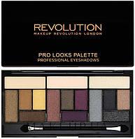 Makeup Revolution Тени для век 15 цветов Pro Looks Pallete Professional Eyeshadows 13 g. № Big Love