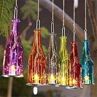 Бутылка для пива Висячая стеклянная свеча Палка Подсвечник для свечей Candelabra Romantic Свадебное Decor