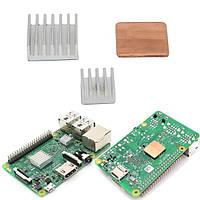 Алюминиевый радиатор медный радиатор для Raspberry Pi 3 модели б / пи 2 / б +