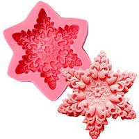 Рождество Снежинка мыла прессформы помадная украшения торта силиконовые формы формы для выпечки
