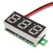 3Pcs Geekcreit® White 0.28 дюймов 3.0V-30V Миниатюрный измеритель напряжения вольтметра Voltmeter, фото 3