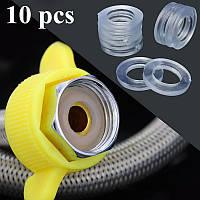 10 штук прозрачные 1/2 дюйма шайбы резиновый шланг для душа кольца для трубки трубы ванны головки