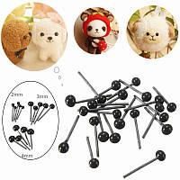 150pairs 2 3 4 мм малышей детей поделки стеклянные глаза игла войлок плюшевый медведь куклы кукольный животные ремесленных игрушки
