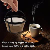 Многоразовые золотой кофе фильтр корзины для 10-12 чашки кофе делая машину