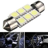 35мм 5050 6SMD яркий LED автомобиль интерьер габаритный фонарь купола фестона колбы лампы
