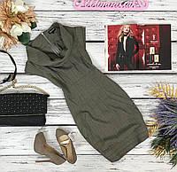 Актуальное осеннее платье Floyd с воротником-стойкой и выделенным лифом  DR4240