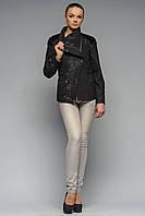 Пальто жіноче коротке чорне Карелія