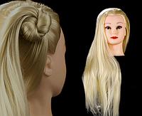 Голова для причесок и отработки навыков плетения 85 см, белая