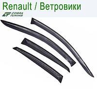 Renault Logan II Sd 2014 — ветровики/дефлекторы окон (комплект)