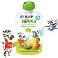 Органічне фруктове пюре HiPP HiPPiS Груша-банан-ківі, 100 гр