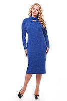 Платье с карманами из ангоры Алиса электрик