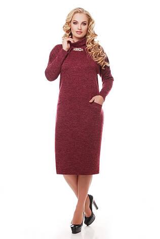 Сукня з кишенями з ангори Аліса марсала, фото 2