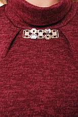 Сукня з кишенями з ангори Аліса марсала, фото 3