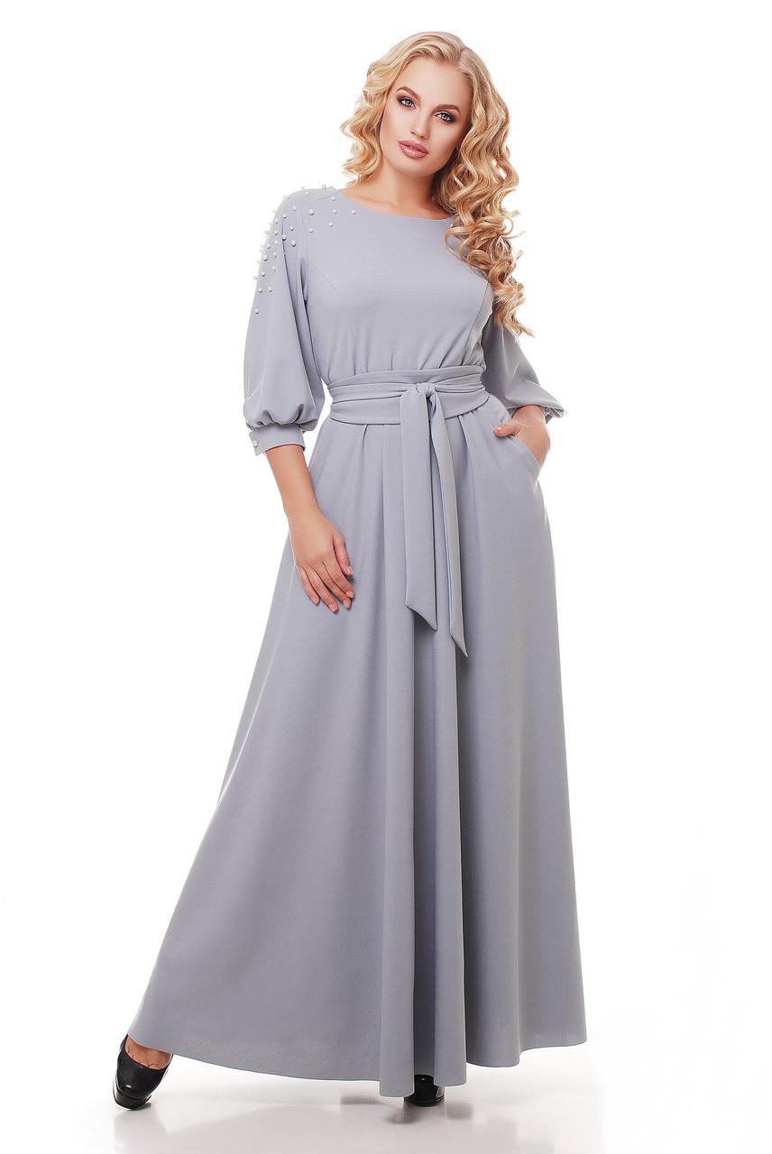 79c6d408d21 Красивое длинное платье в пол Вивьен жемчуг - V Mode