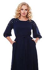 Красивое длинное платье в пол Вивьен темно-синее, фото 3