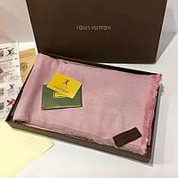 Платок, шаль, палантин Луи Витон цвет розовый с люрексом, Люкс копия